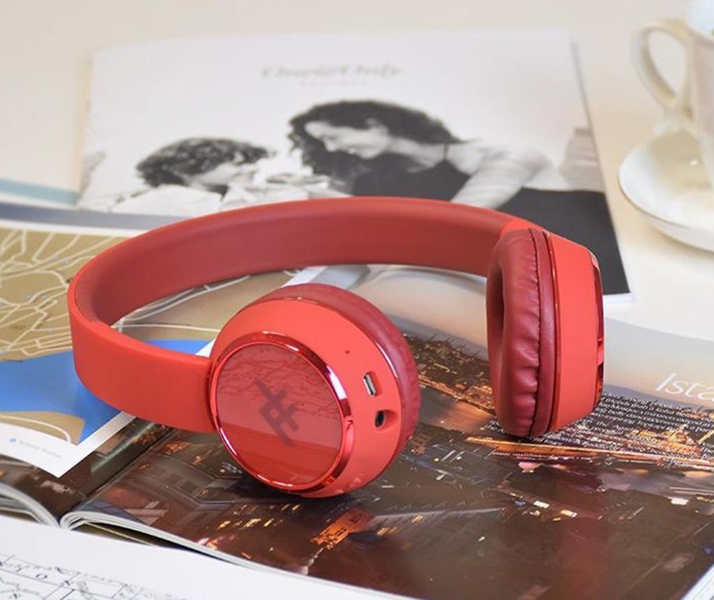 Casti wireless cu microfon iFrogz Coda Red