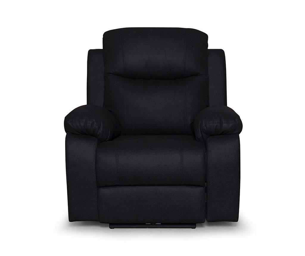 Fotelja s relax funkcijom Chicago Mozart Black