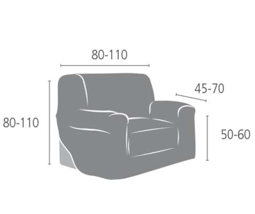 Aquiles Brown Elasztikus huzat fotelre 80-110 cm