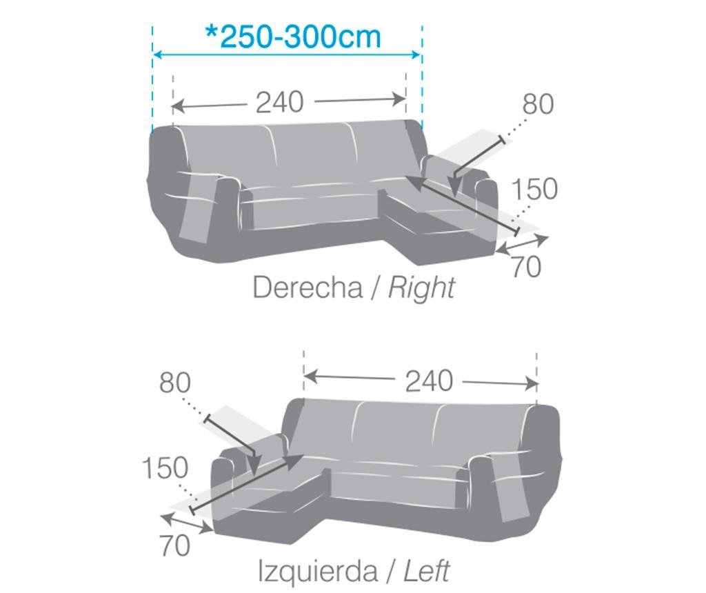 Husa matlasata pentru coltar stanga Oslo Beige 240 cm