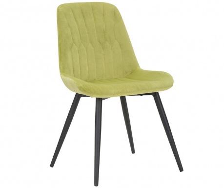 Stolica Glam Light Green Black Legs
