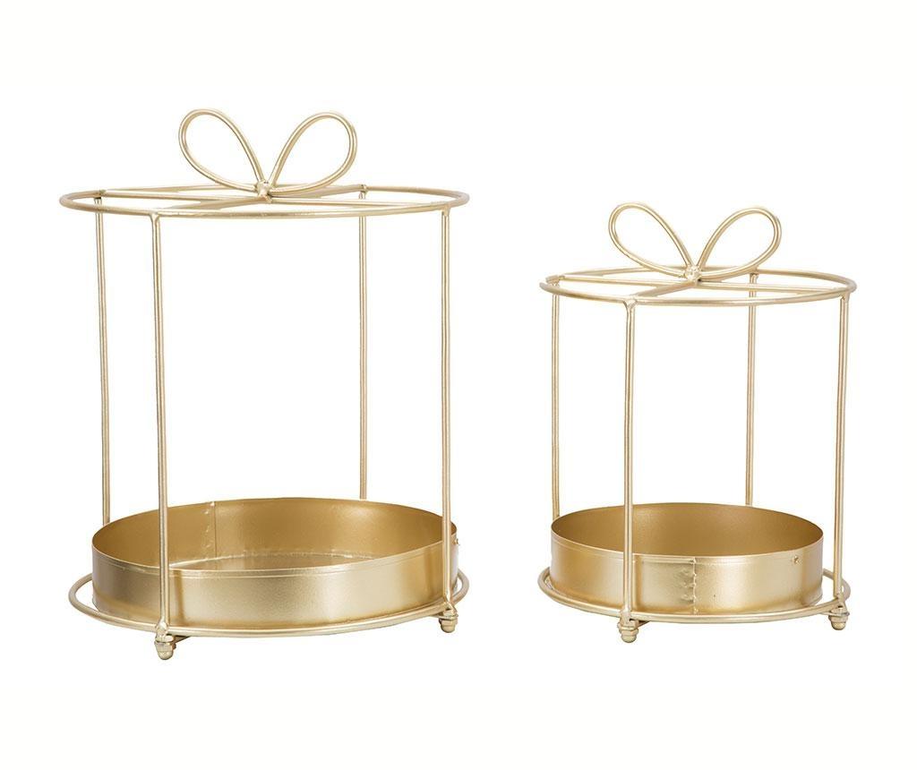Set 2 svečnikov Glam Ribbon