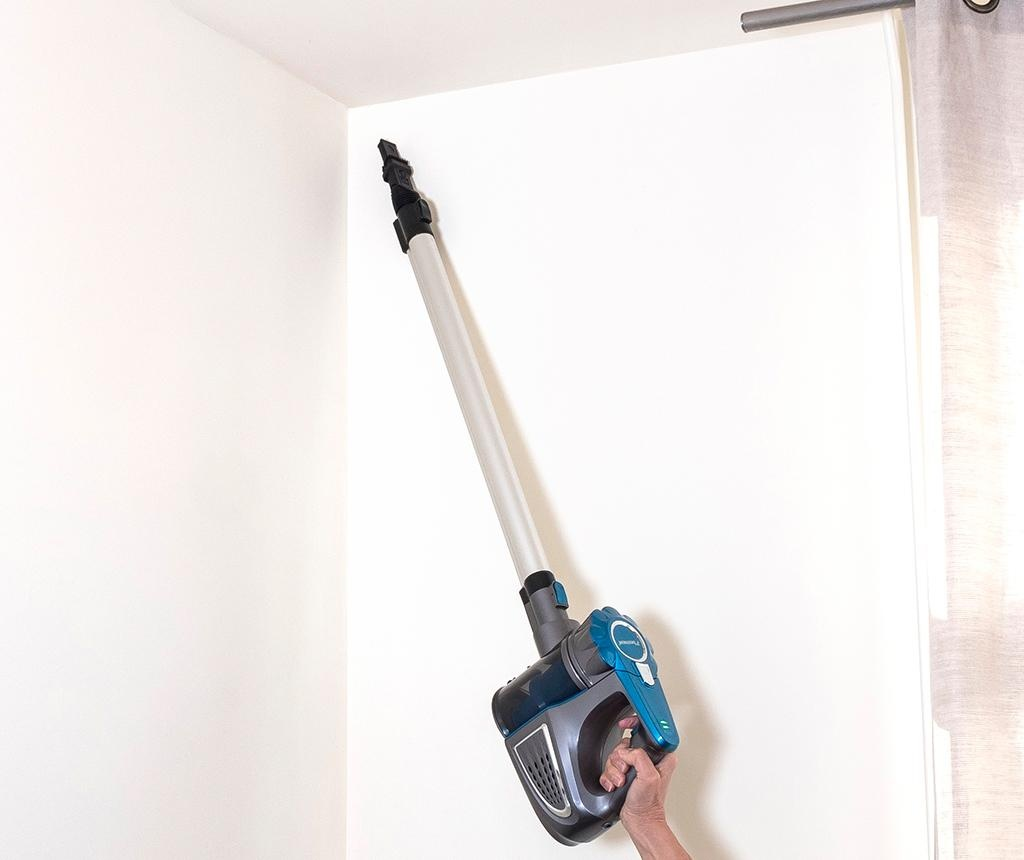 Aspirator vertical fara sac si fir Cyclone Practico Blue and Grey