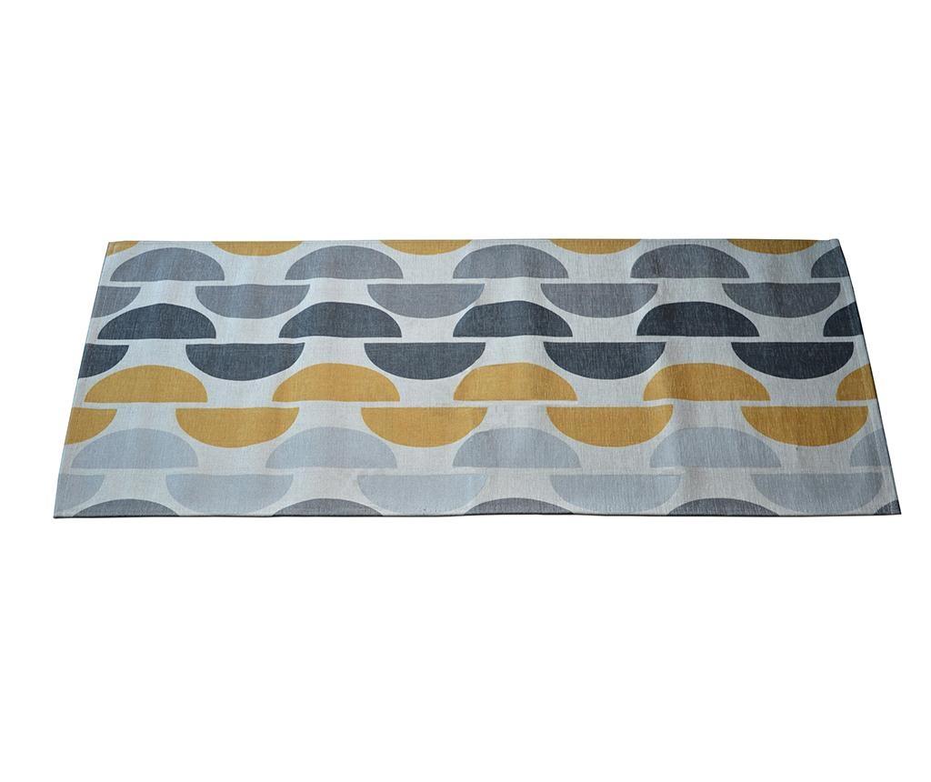 Preproga Halfmoon Grey Ochre 60x140 cm