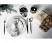 16-dijelni  pribor za jelo Avie Matte Black & Silver