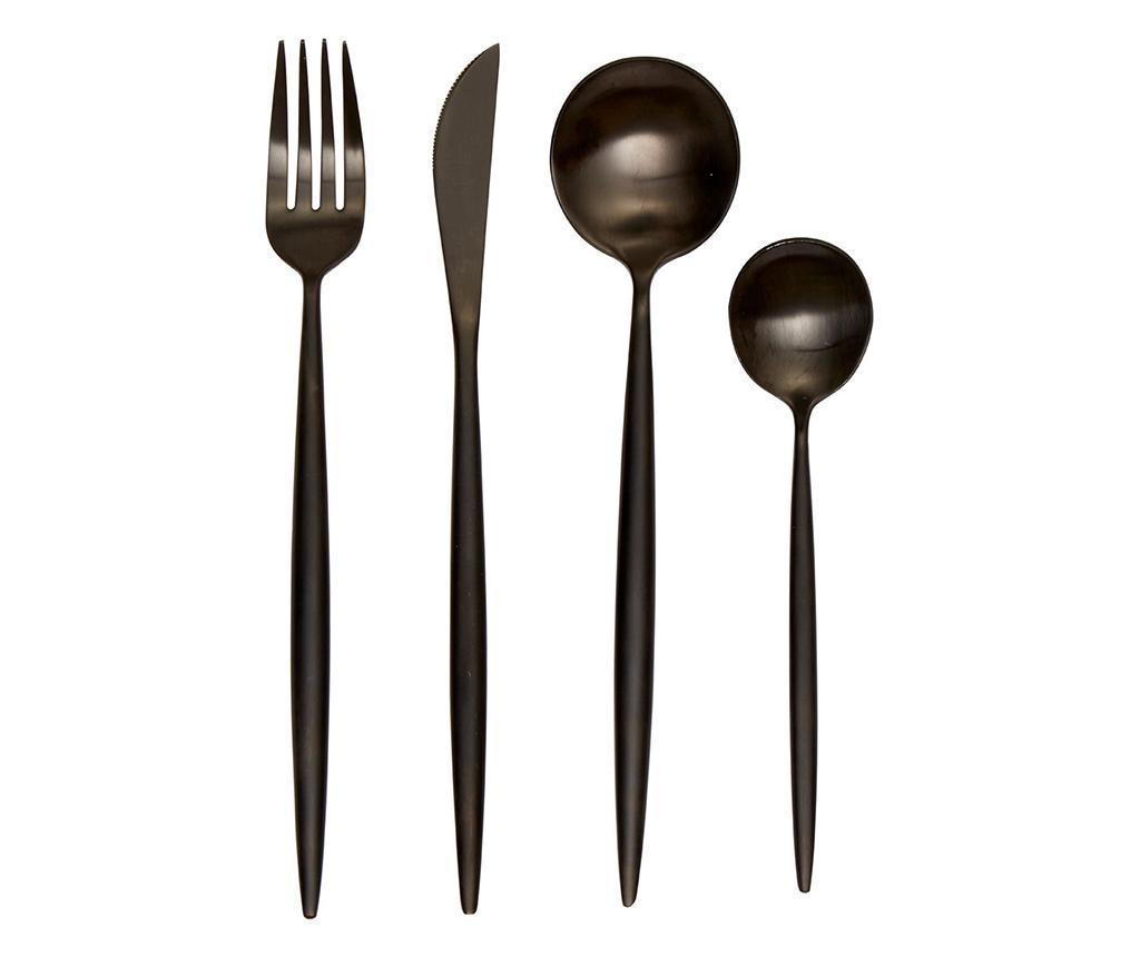 16-dijelni  pribor za jelo Modern Retro Matte Black