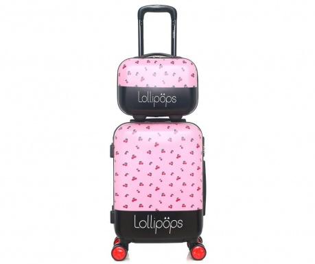 a8d30c8665 Σετ τρόλεϊ και τσάντα καλλυντικών Hortense Pink - Vivre.gr
