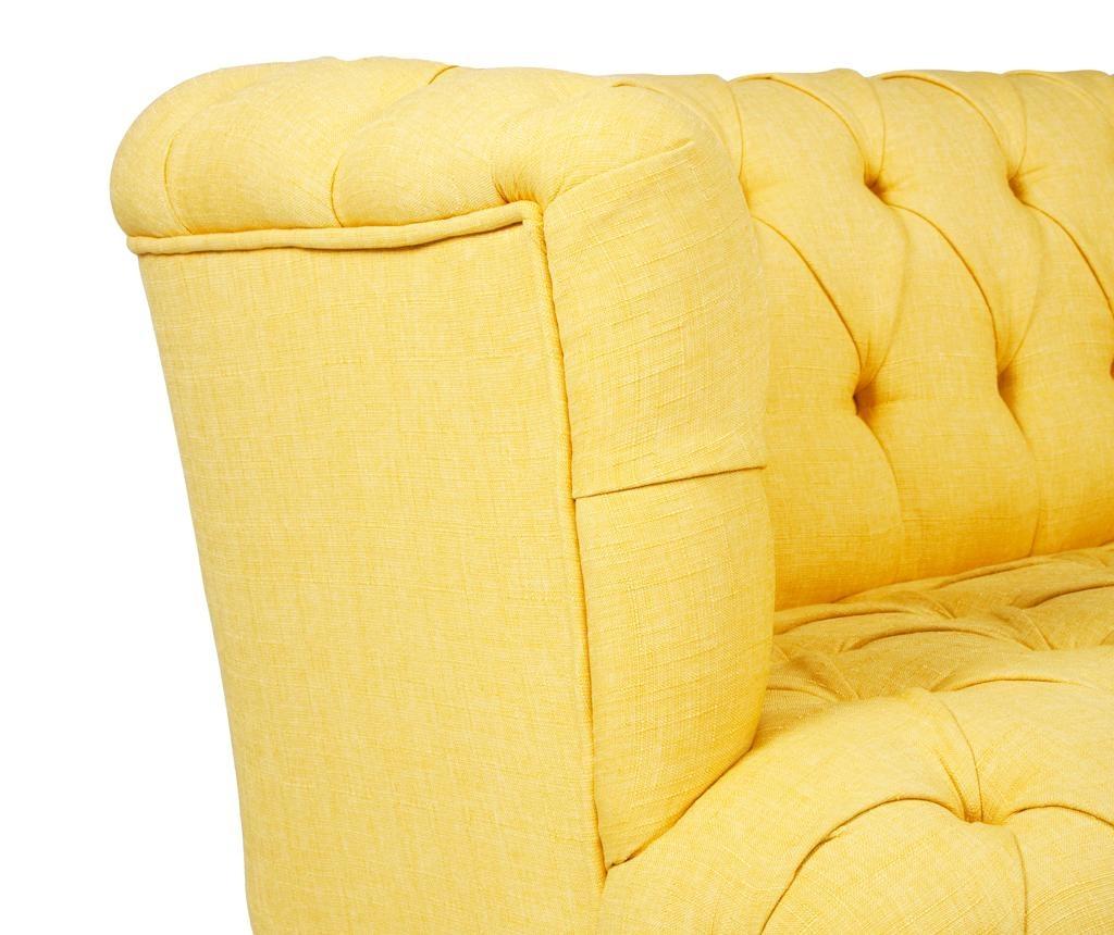 Canapea 2 locuri Beatrice Yellow