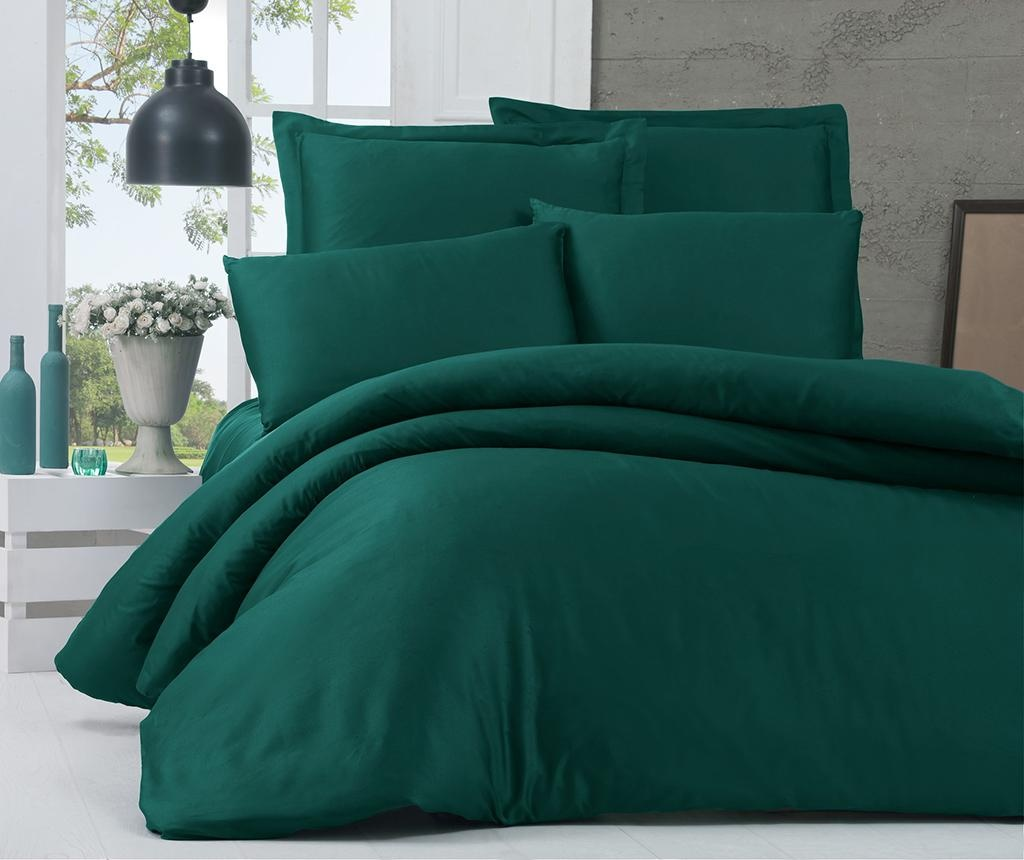 Posteljnina King Sateen Supreme Basic Green