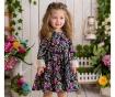 Rochie pentru copii Farbela Garden Black 12 luni