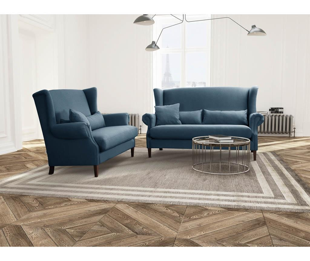 Canapea 3 locuri Alpaga Blue