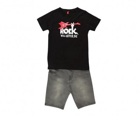 Sada tričko a nohavice pre deti Rock Grey 10 r.