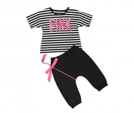 Sada tričko a nohavice pre deti Pink Fun