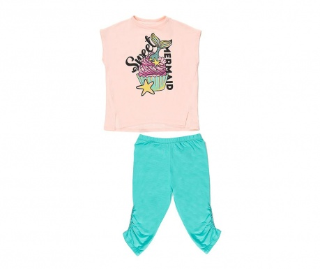 Sada tričko a legíny pre deti Sweet Mermaid