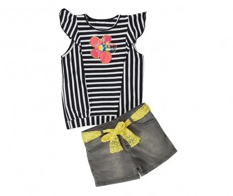 Sada tričko a nohavice pre deti Flowers and Stripes