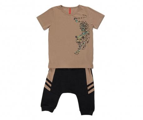 Otroški komplet - majica s kratkimi rokavi in hlače Leopard 9 let