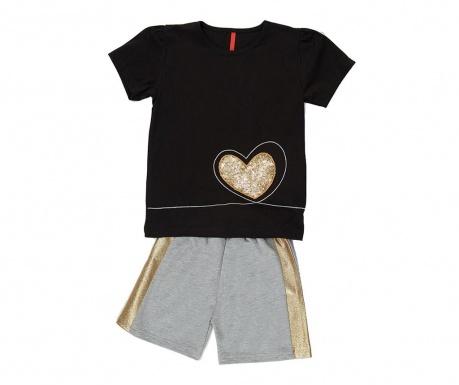 Otroški komplet - majica s kratkimi rokavi in hlače Golden Heart 6 let