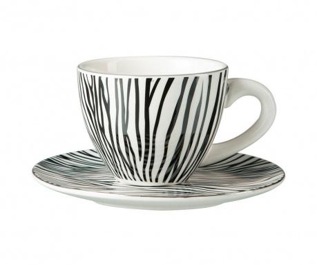 Zebra Csésze és kistányér