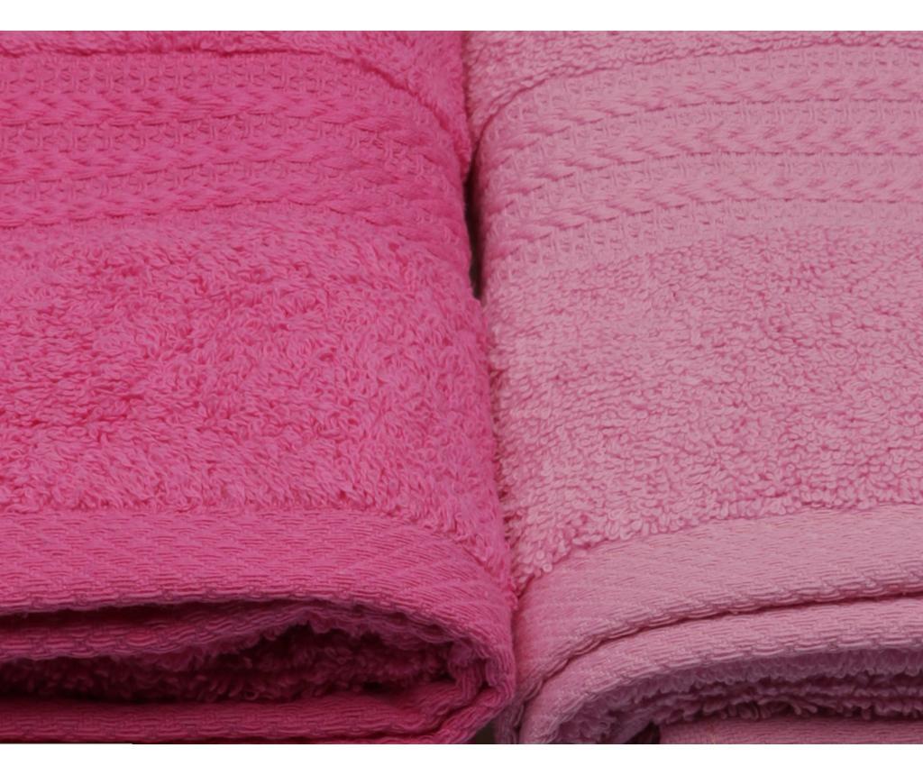 Set 4 kopalniških brisač Shades Pink 50x90 cm