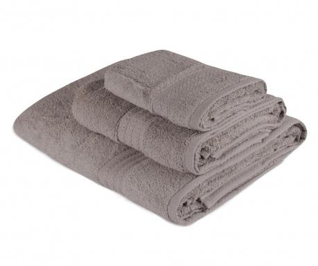 Sada 3 ručníků Simple Grey