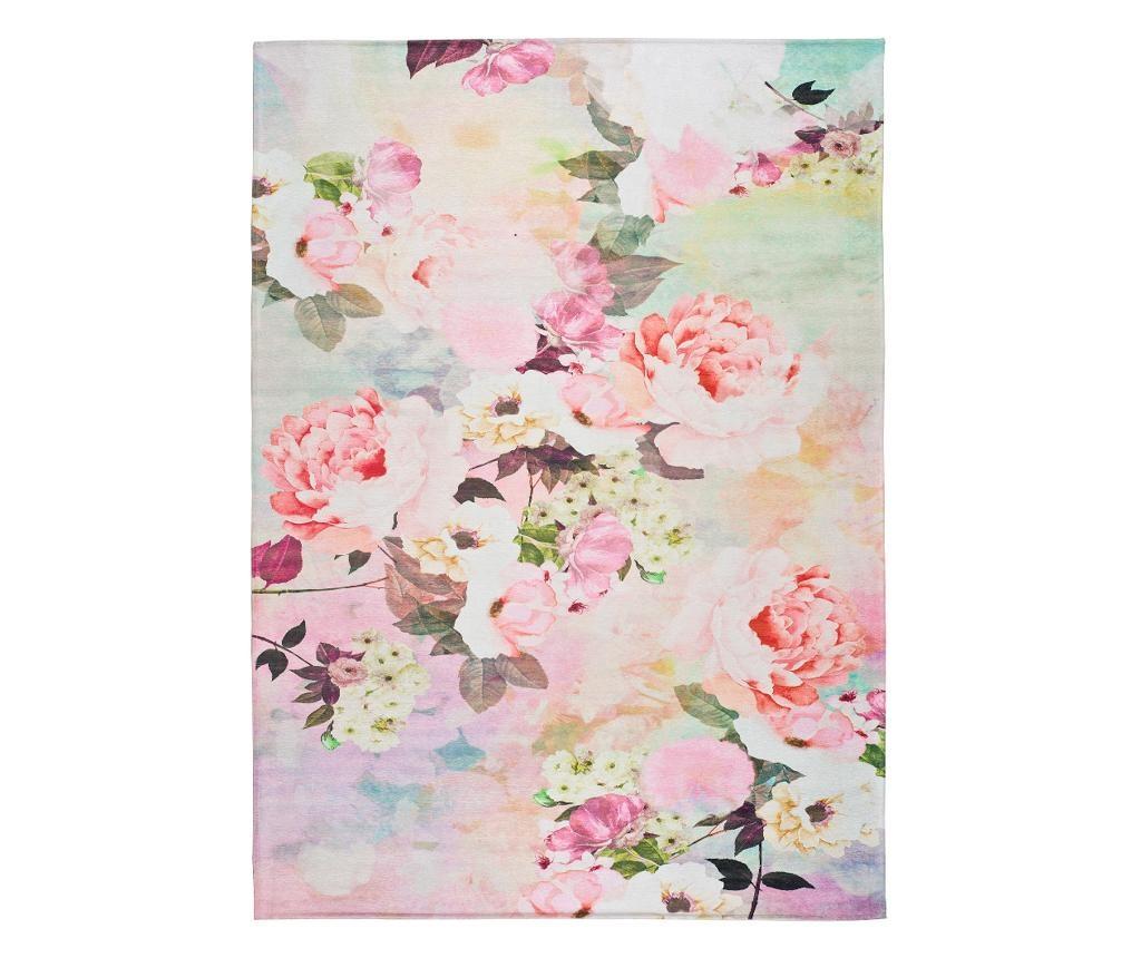 Covor Chenille Flowers 80x150 cm