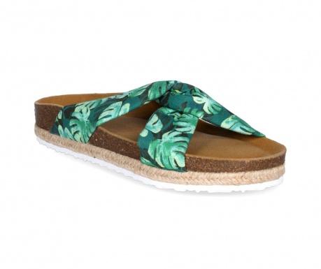 Ženske papuče Knot Palms Green Lime