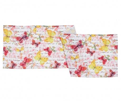 Stredový obrus Butterfly Blush 40x140 cm