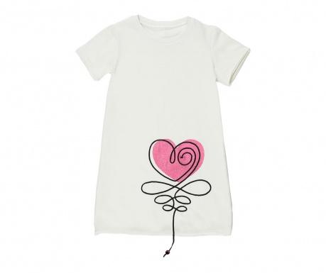Otroška obleka Heart 6 let