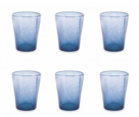 Sada 6 sklenic na vodu Cancun Satin Indigo 330 ml
