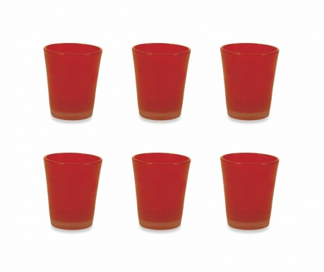 Sada 6 sklenic na vodu Cancun Satin Orange 330 ml