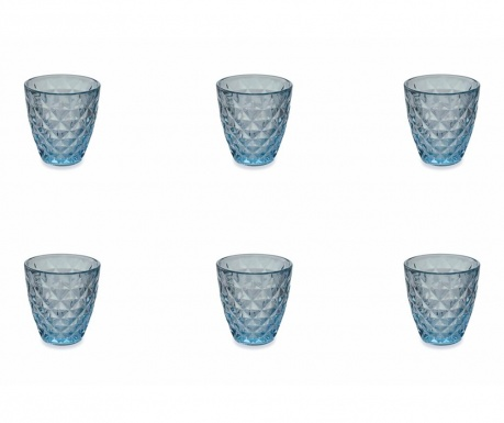 Set 6 čaša za vodu Fresh Blue 257 ml