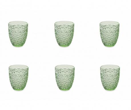 Sada 6 skleniček na vodu Gemma Green 337 ml