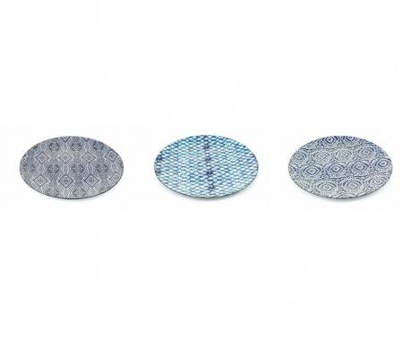 Sada 6 mělkých talířů Etnico Blue