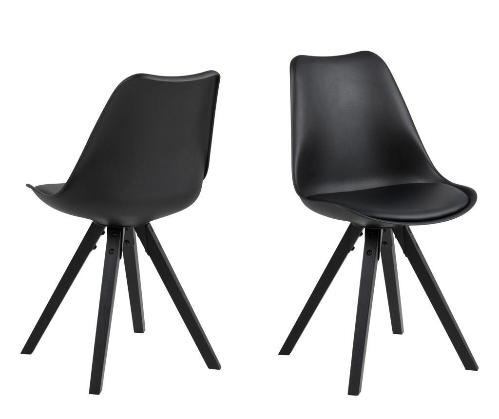 Set 2 stolice Dima All Black