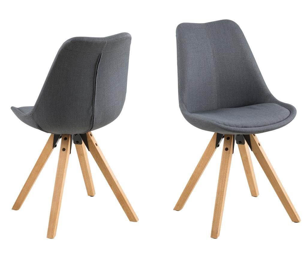 Set 2 stolice Dima Corsica Dark Grey