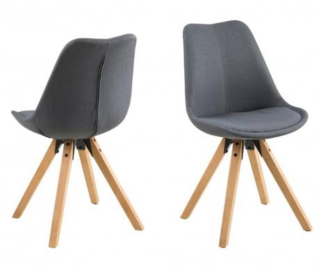 Sada 2 židlí Dima Corsica Dark Grey