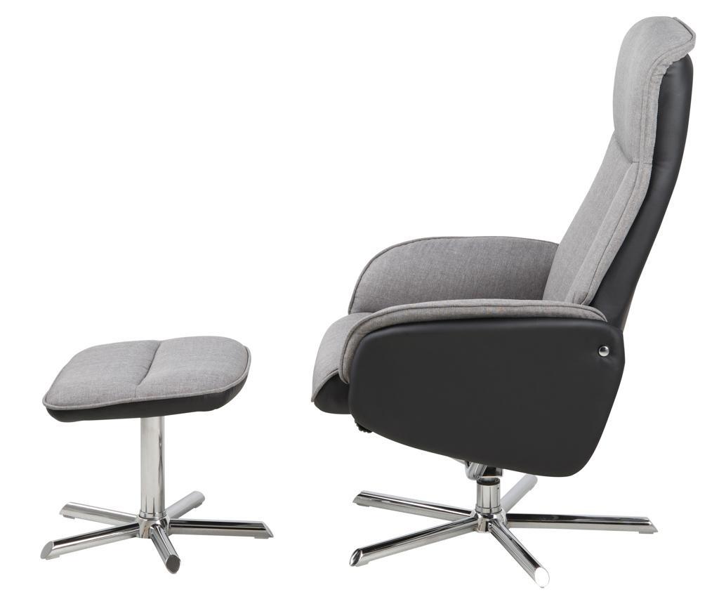 Set nagibna fotelja i tabure za noge Annora