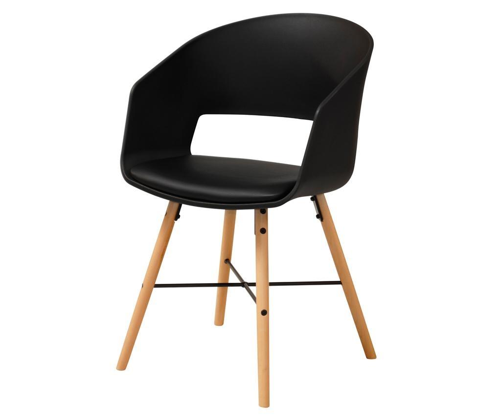 Set 2 stolice Luna Black Cream