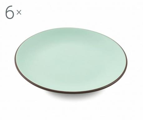 Sada 6 talířů na dezert Kora Aquamarine