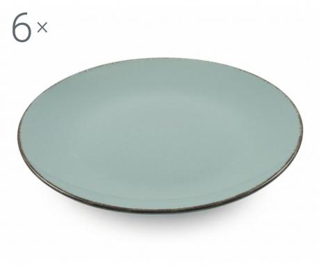 Sada 6 mělkých talířů Baita Grey