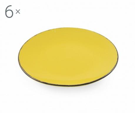 Sada 6 talířů na dezert Baita Yellow