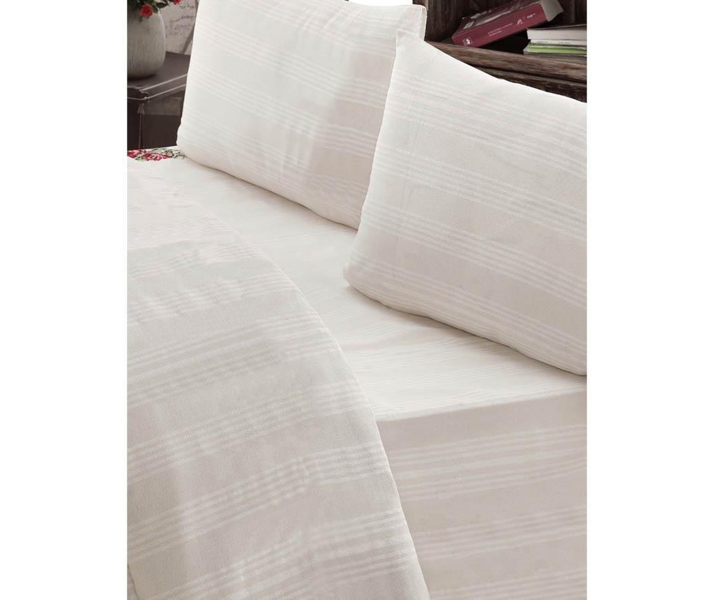 Lenjerie de pat Double Plain Stripes Cream