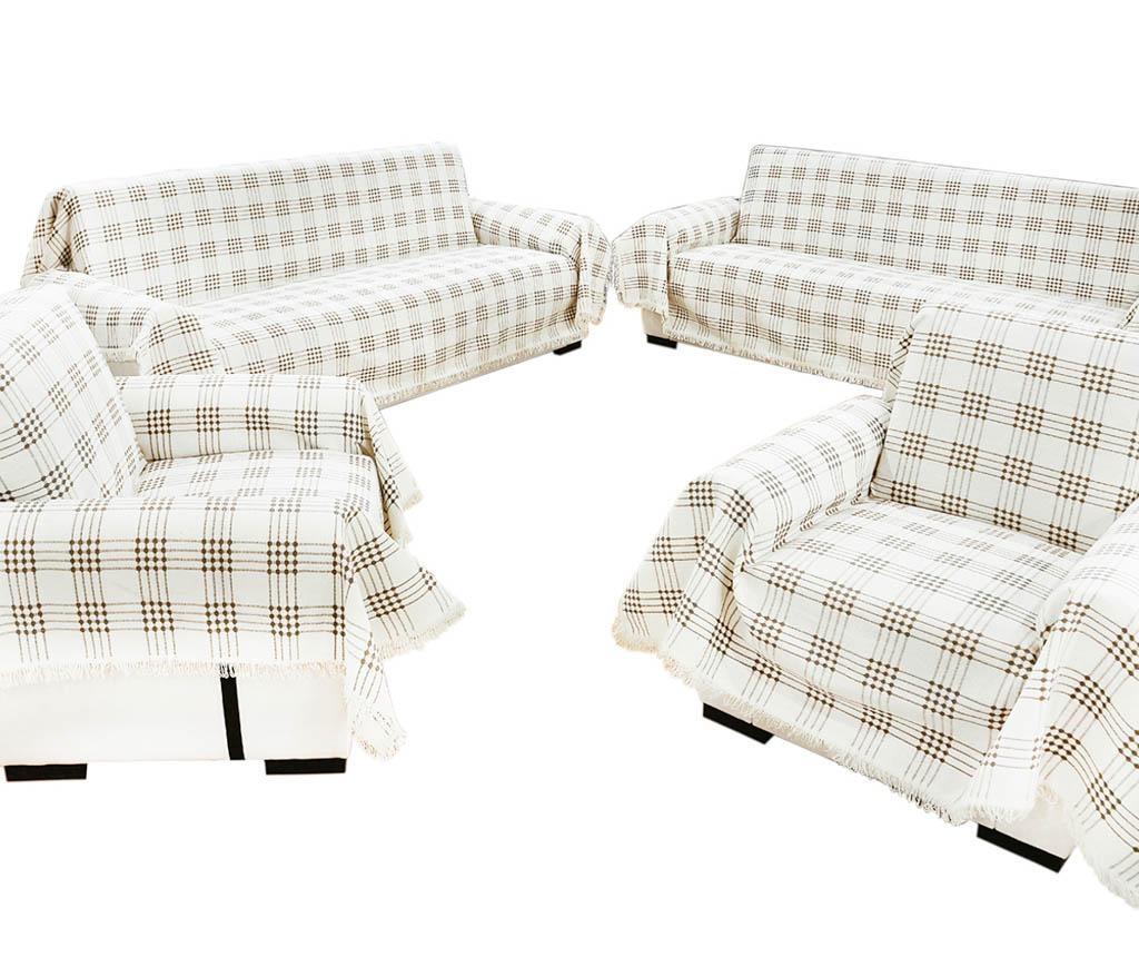 Set 4 cuverturi Sofa Cover Brown