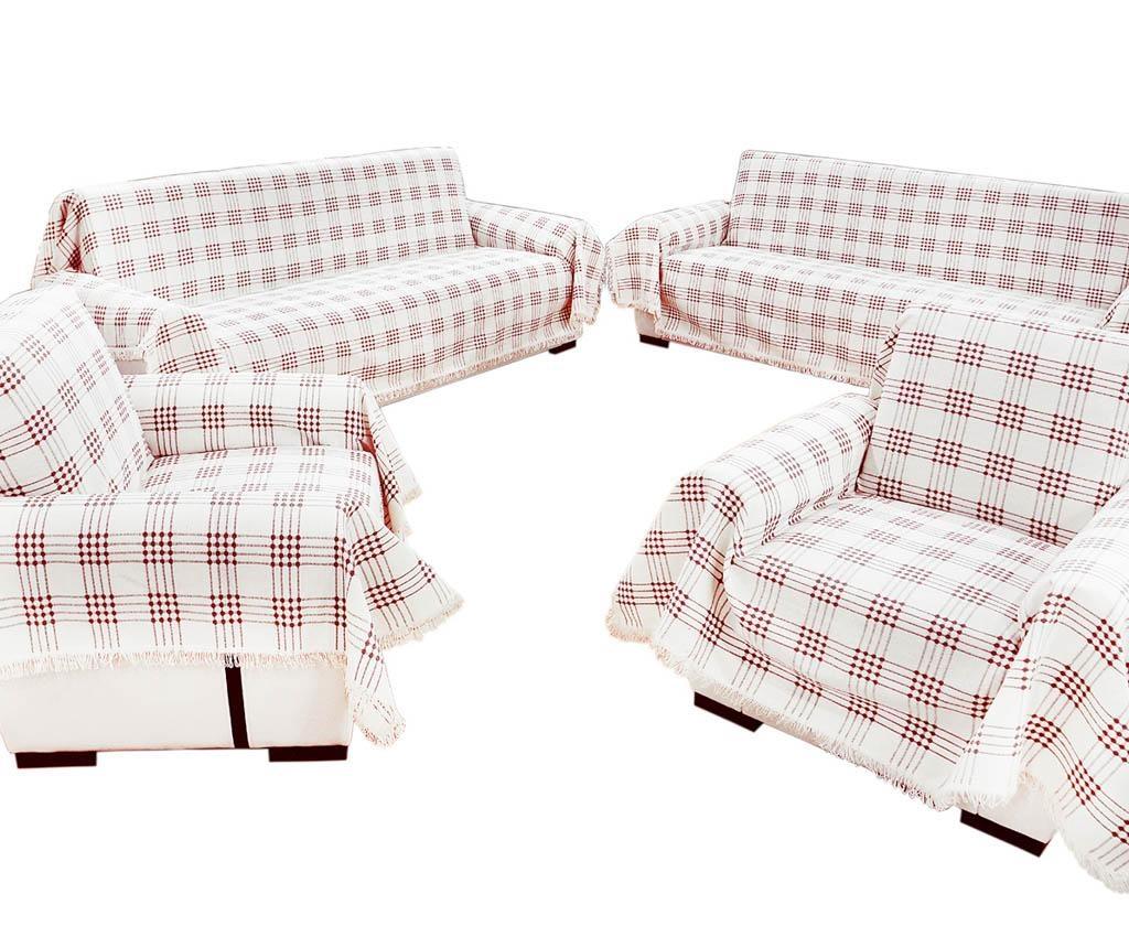 Set 4 cuverturi Sofa Cover Claret Red