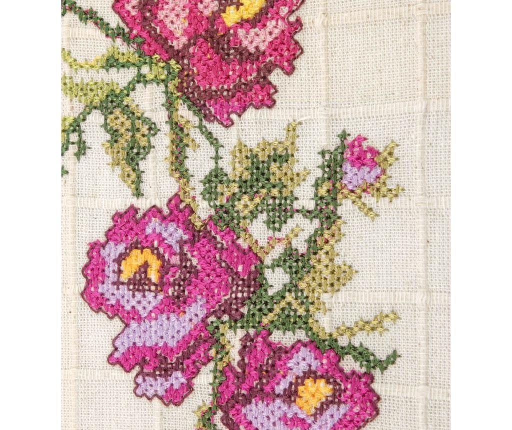 Traversa de masa Cross Stitch Lilac 55x120 cm