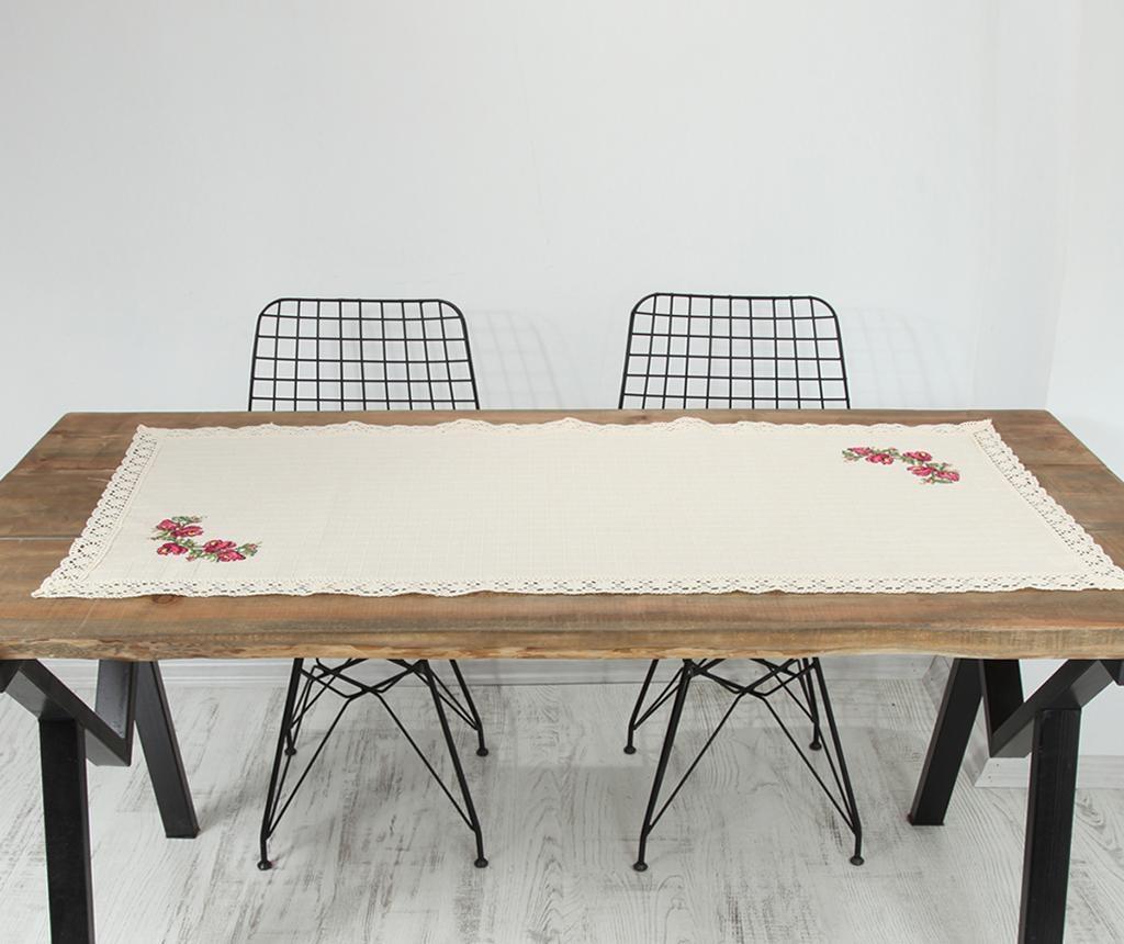 Nadstolnjak Cross Stitch Pink 55x120 cm