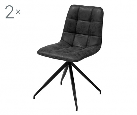 Sada 2 židlí Capone Black