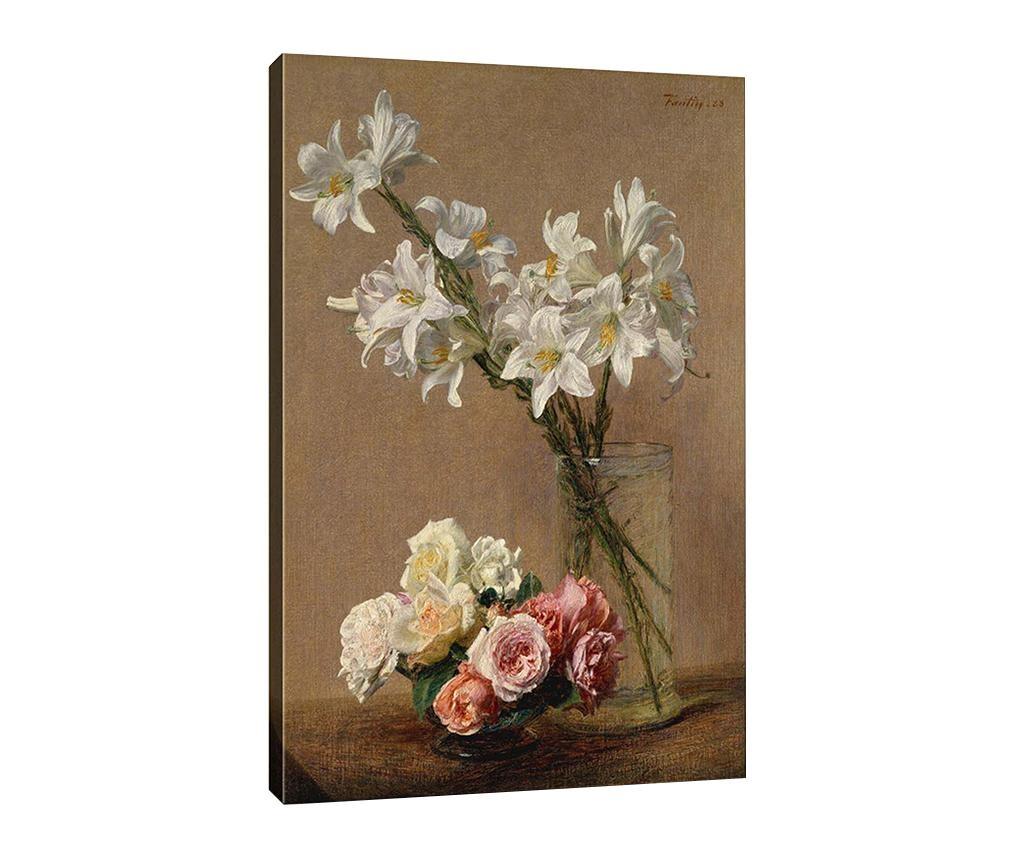Slika Lilies and Roses 50x70 cm