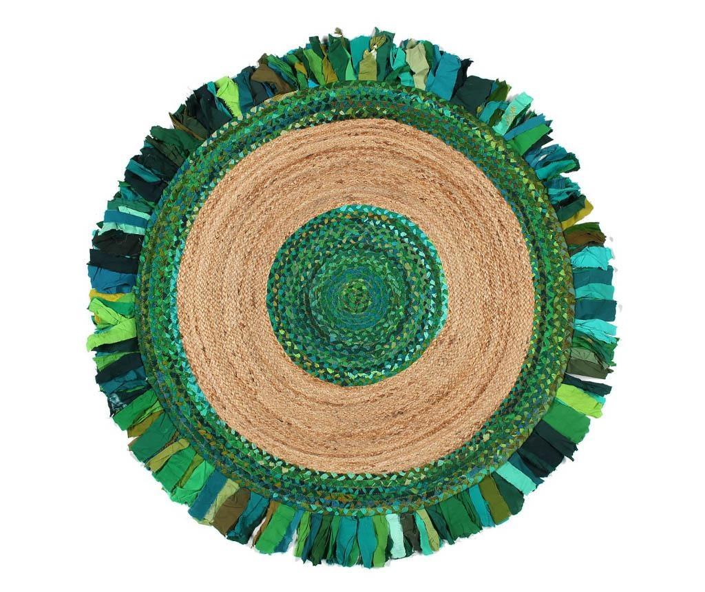 Tepih Frenzy Circle Green 120 cm