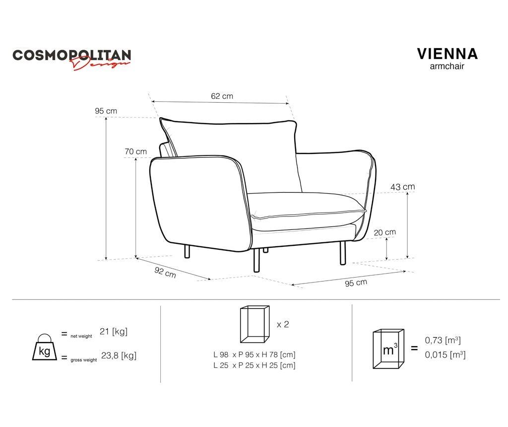 Vienna Beige Fotel